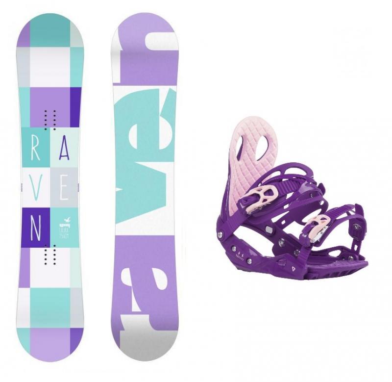 Raven Laura 2018 dámský snowboard + vázání Gravity G2 Lady Purple - 140 cm