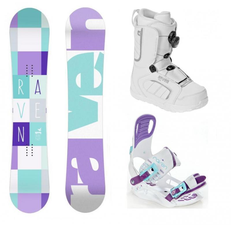 Raven Laura 2018 dámský snowboard + vázání Raven Starlet White + boty Raven (výhodný set) - 140 cm + S (EU 35-39)