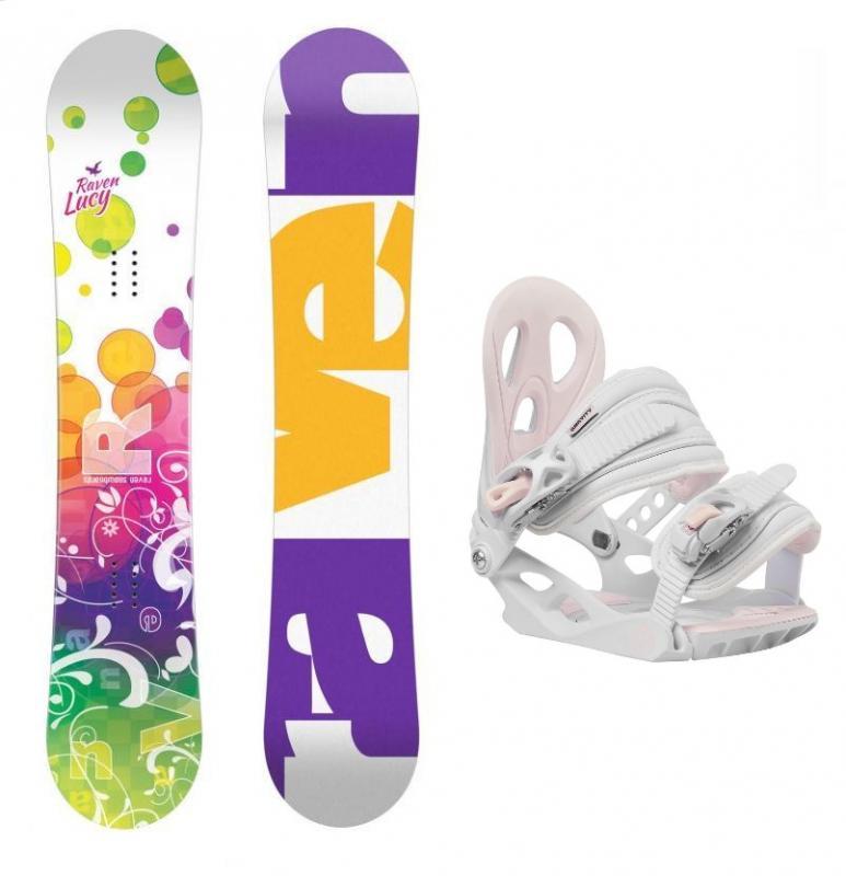 Raven Lucy CAP dívčí snowboard + Gravity G1 Jr white vázání - 138 cm + M (< EU 38 )