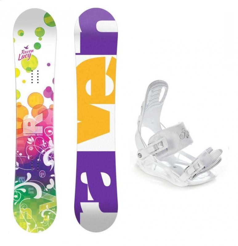 Raven Lucy CAP dívčí snowboard + Raven Luna vázání - 118 cm + S (EU 35-38)