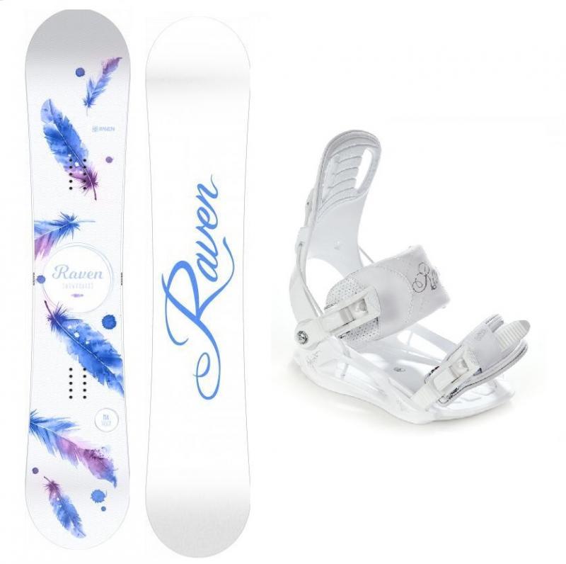 Raven Mia White dámský snowboard + Raven Luna vázání - 139 cm + S (EU 35-38)