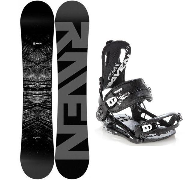 Levně Raven Mystic snowboard + Raven Fastec FT 270 black vázání - 140 cm + L (EU 42-44)