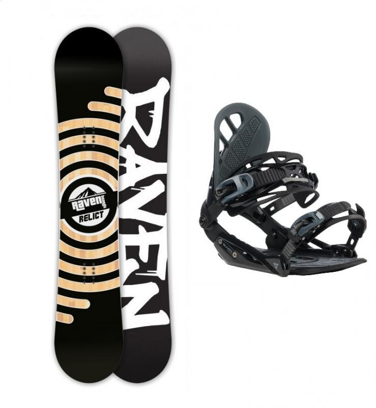 Raven Relict ltd 2018 snowboard + Gravity G1 black/grey vázání - 158 cm + M (EU 39,5-41,5)