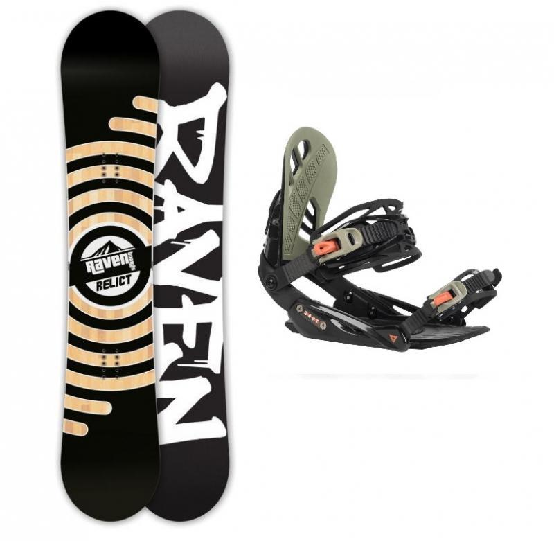 Raven Relict snowboard + Gravity G1 black/chilli/pepper vázání - 152 cm + M (EU 39,5-41,5)