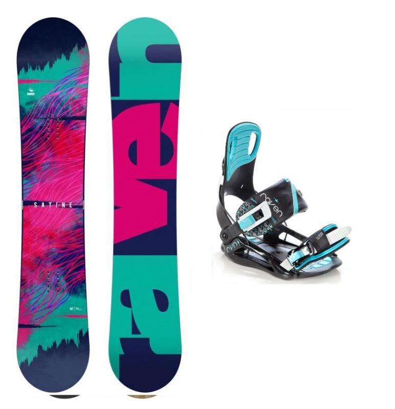 Raven Satine 2020 dámský snowboard + vázání Raven Starlet black/mint - 144 cm + S (EU 35-39)
