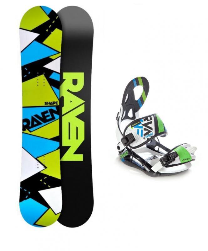 Raven Shape + vázání Raven S250 white snowboardový set - 156 cm + XL (EU 43-46)