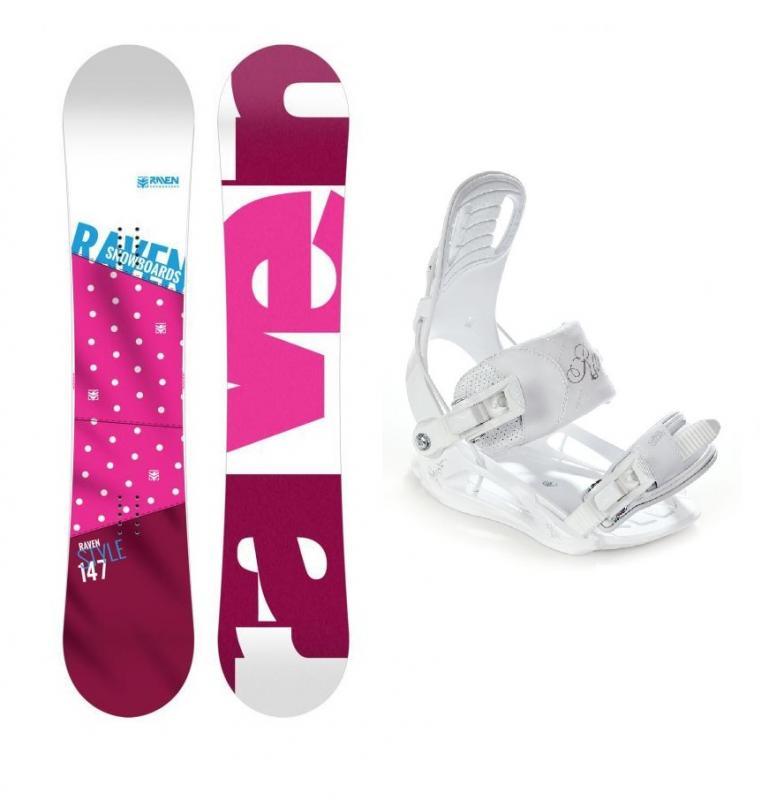 Raven Style Pink 2018 dámský snowboard + vázání Raven Luna - 144 cm + S (EU 35-38)