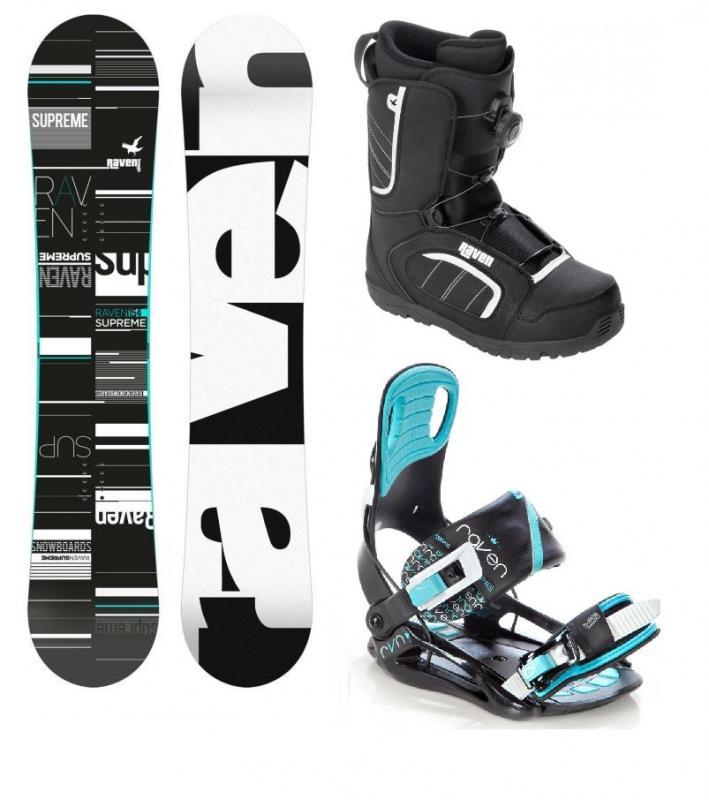 Raven Supreme 2018 black/mint dámský snowboard + vázání Raven Starlet black/mint + obuv Raven (výhodný set) - 139 cm + S (EU 35-39)