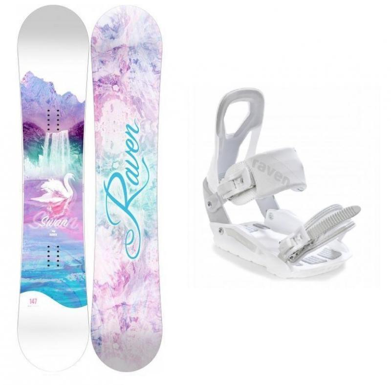 Raven Swan dámský snowboard + Raven S200 white vázání - 144 cm + S/M (EU 37-41)