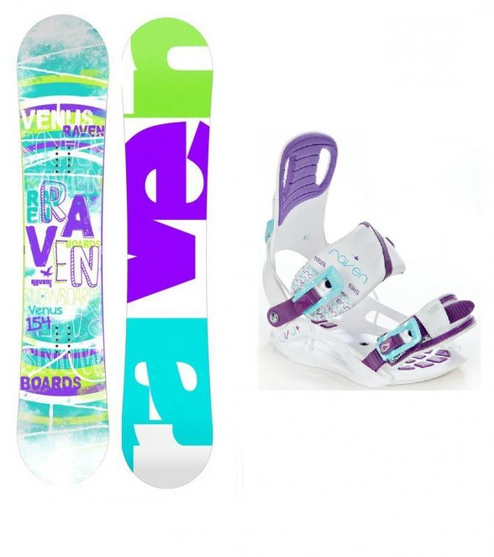 Raven Venus 2018 dámský snowboard + vázání Raven Starlet White - 144 cm + S (EU 35-39)