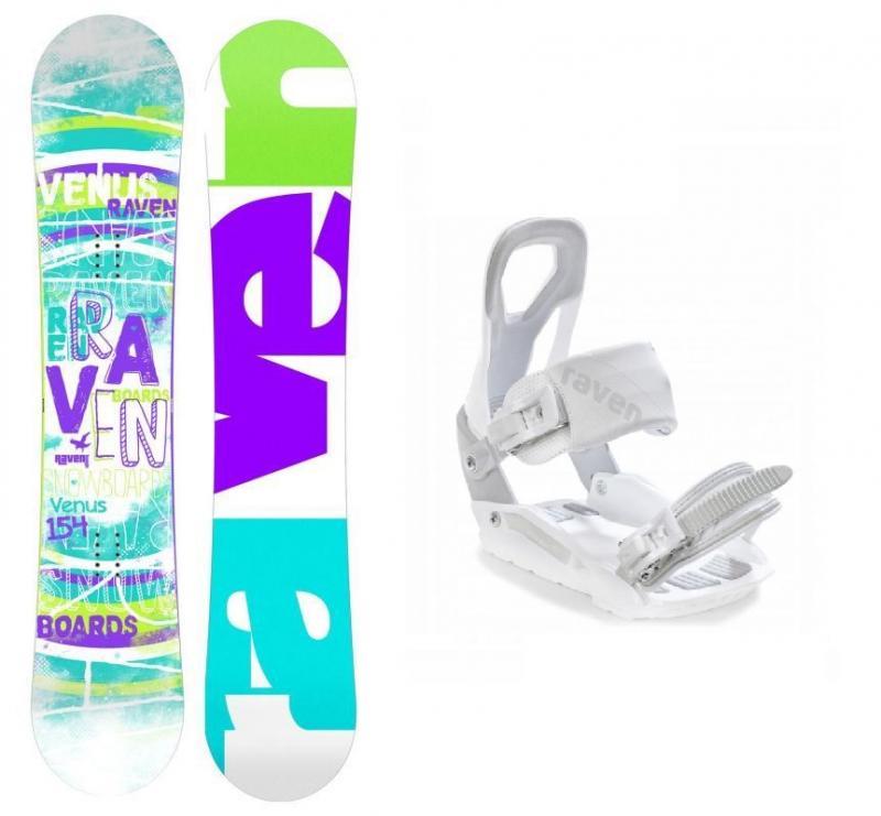 Raven Venus 2019/20 snowboard + Raven S200 white vázání - 144 cm + S/M (EU 37-41)