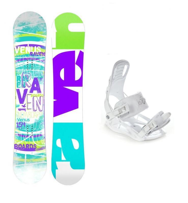 Raven Venus 2018 + vázání Raven Luna dámský snowboard set - 147 cm + S (EU 35-38)