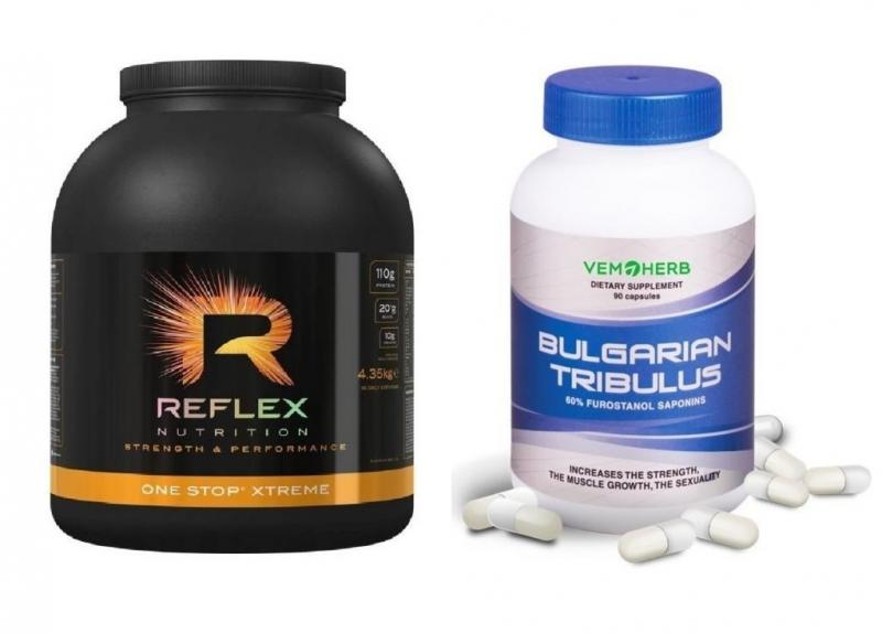Reflex One Stop XTREME 4350g + VemoHerb Tribulus 90 kapslí - vanilka