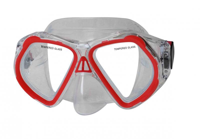 CALTER JUNIOR 4250P, červená Potápěčská maska