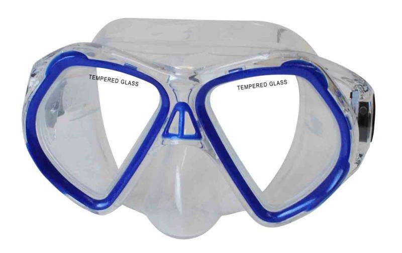 CALTER JUNIOR 4250P, modrá Potápěčská maska