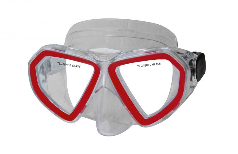 CALTER KIDS 285P, červená Potápěčská maska