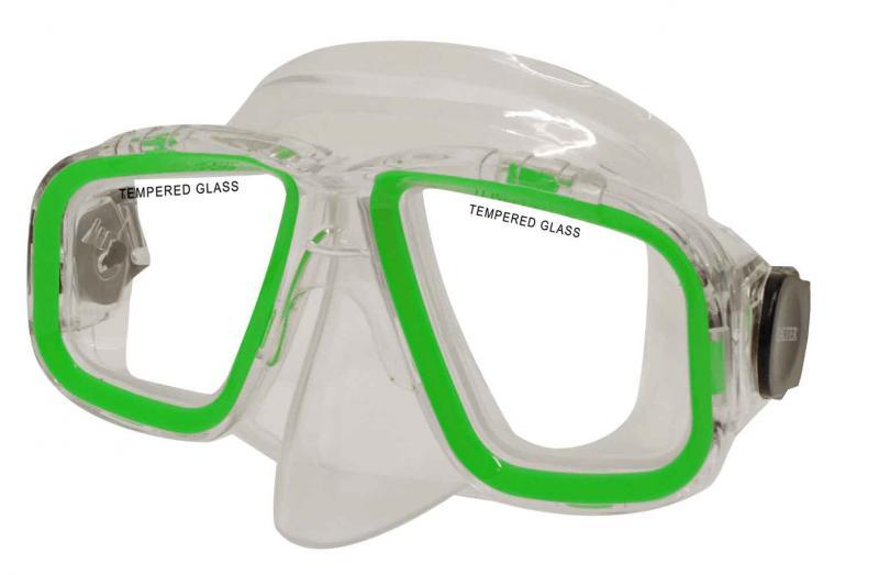 CALTER SENIOR 229P, zelená Potápěčská maska