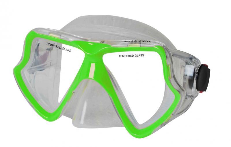 CALTER SENIOR 282S, zelená Potápěčská maska