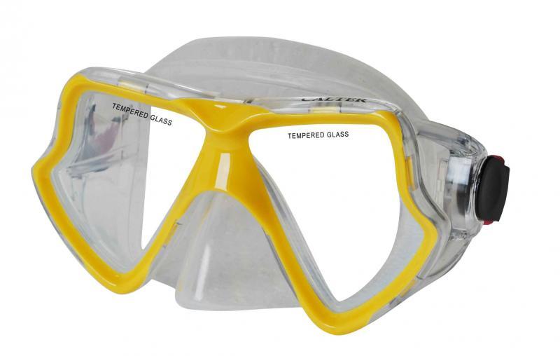 CALTER SENIOR 282S, žlutá Potápěčská maska