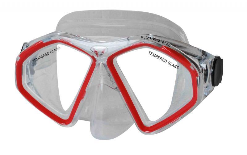 CALTER SENIOR 283S, červená Potápěčská maska