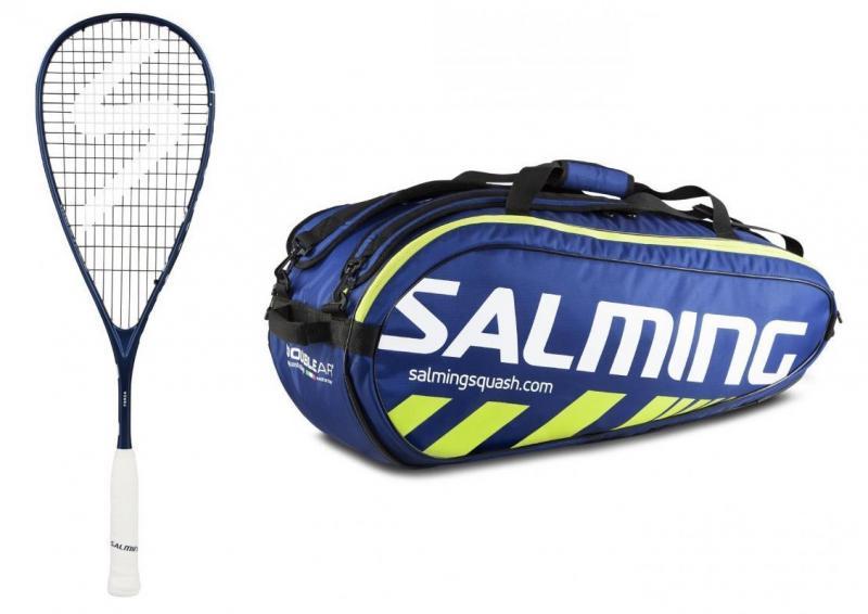 Salming Forza squashová raketa + Salming Tour 9R Racket Bag blue