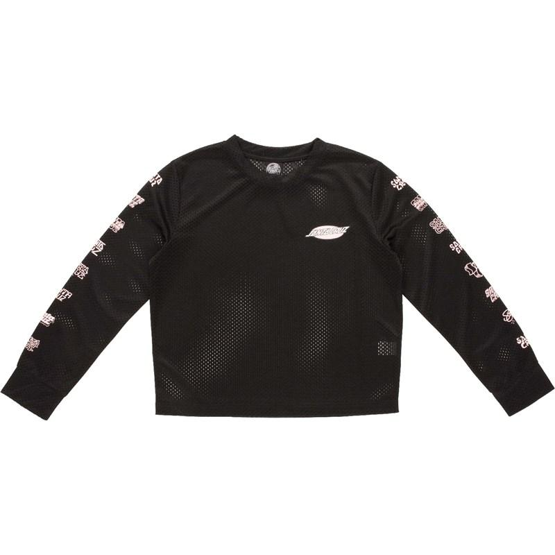 Santa Cruz Multi Cruz LS Top Black (BLACK) triko - 8