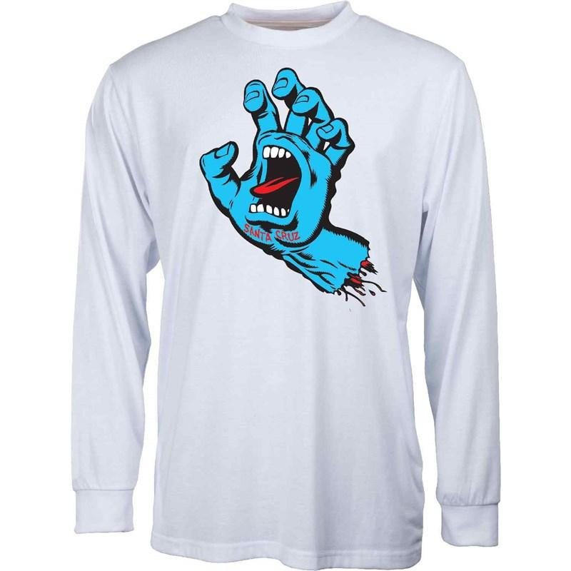 Santa Cruz Screaming Hand White (WHITE) triko - XL