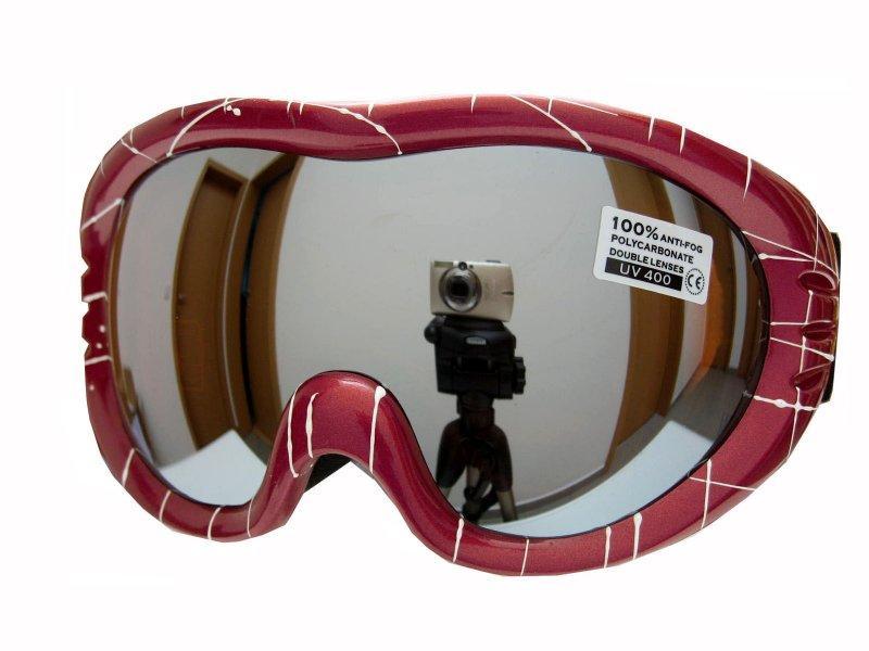 Spheric Jersey červeno/bílé pro lyžařské dioprické brýle - Sklo: žluté