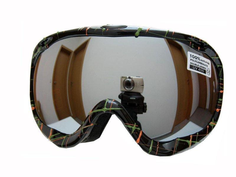 Spheric Vancouver černo/zelené lyžařské brýle dámské - Sklo: žluté