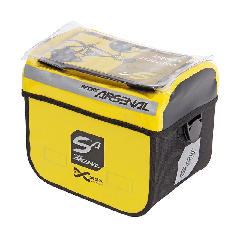 Sport Arsenal 310 vodotěsná žlutá Brašna na řidítka