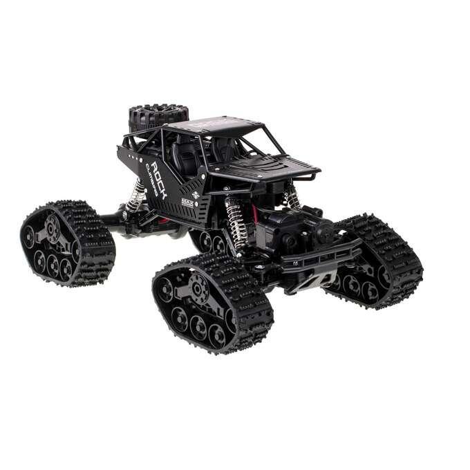 S-Idee Strong Climbing Car 4WD METAL, ALU karoserie, kola i pásy, RTR, černá 1:16