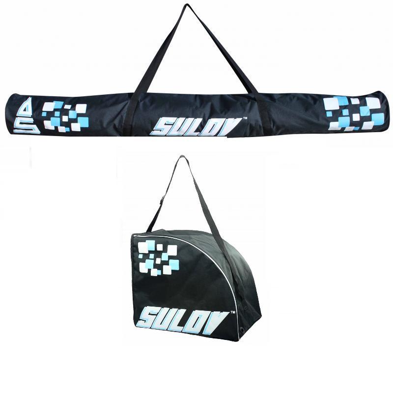 Sulov 2 vak na sjezdové lyže černo-modrý + Sulov 1 pár černo-modrý vak na lyžařské boty
