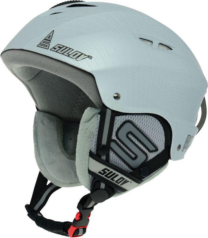 Sulov POWER bílá-carbon lyžařská helma - L/XL (58-61 cm)