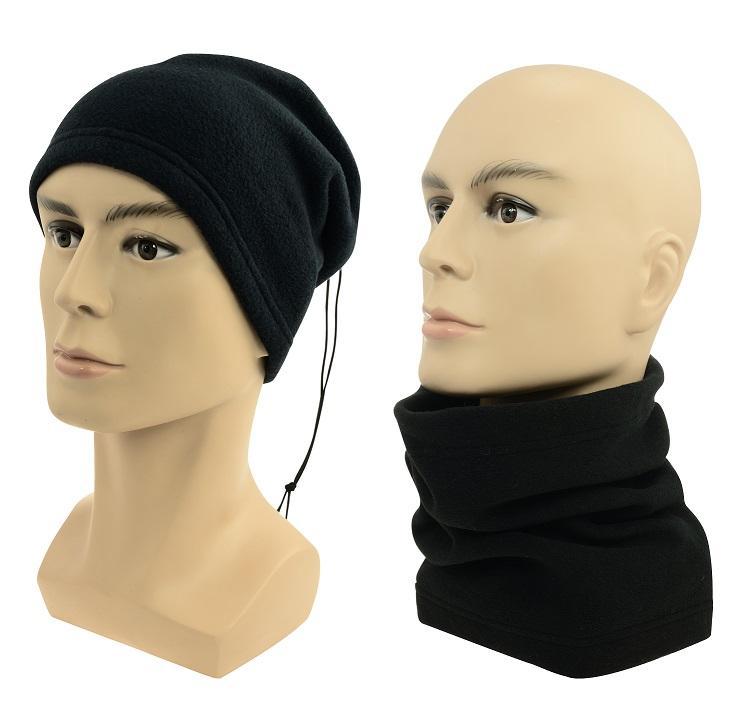 Sulov Multifunkční šátek 2v1 Fleece, černý