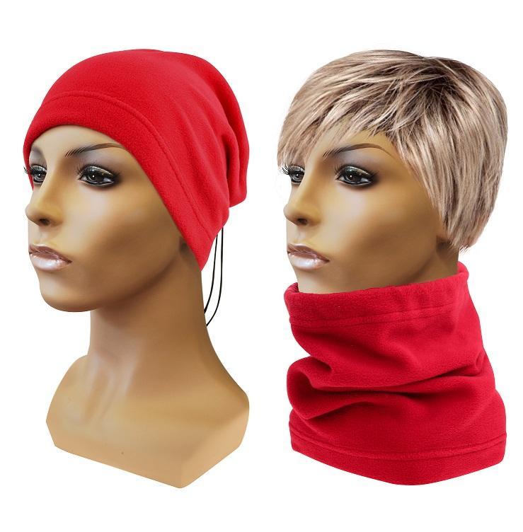 Sulov Multifunkční šátek 2v1 Fleece, červený