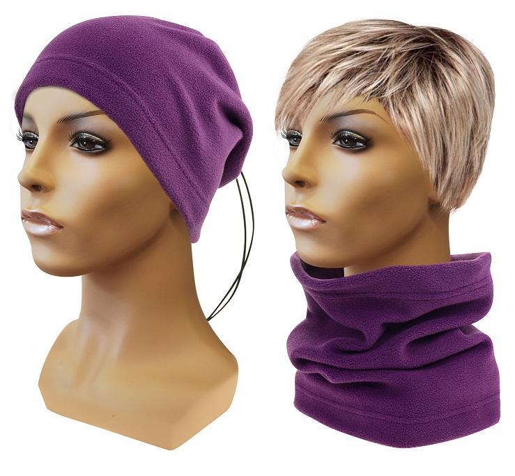Sulov Multifunkční šátek 2v1 Fleece, fialový