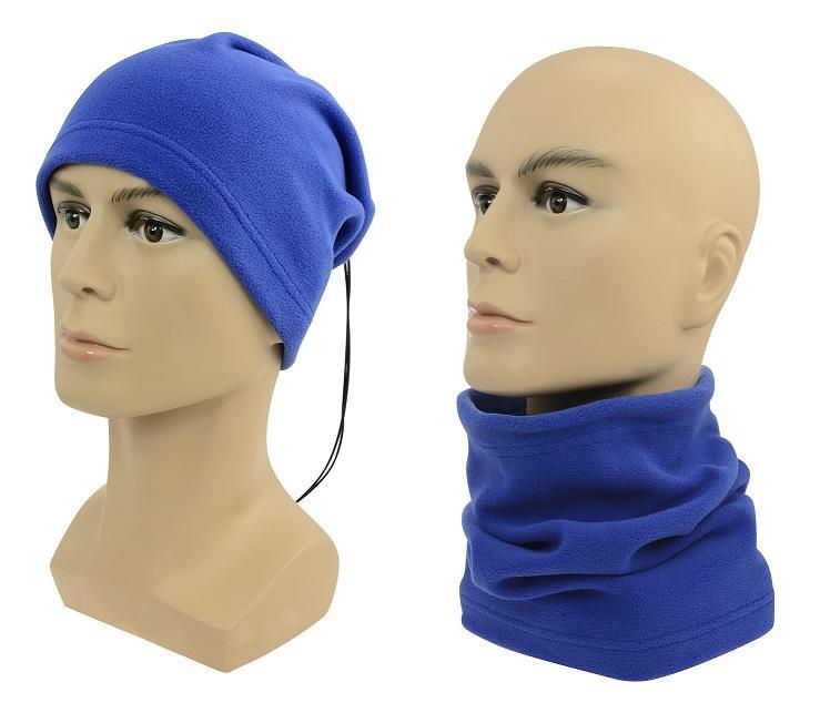 Sulov Multifunkční šátek 2v1 Fleece, modrý