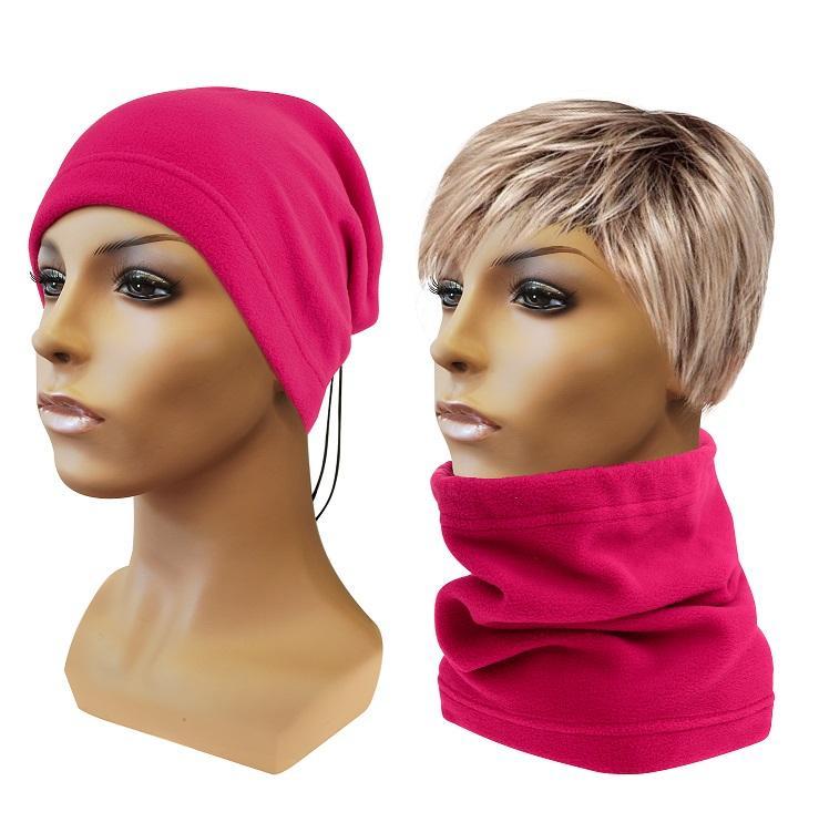 Sulov Multifunkční šátek 2v1 Fleece, růžový