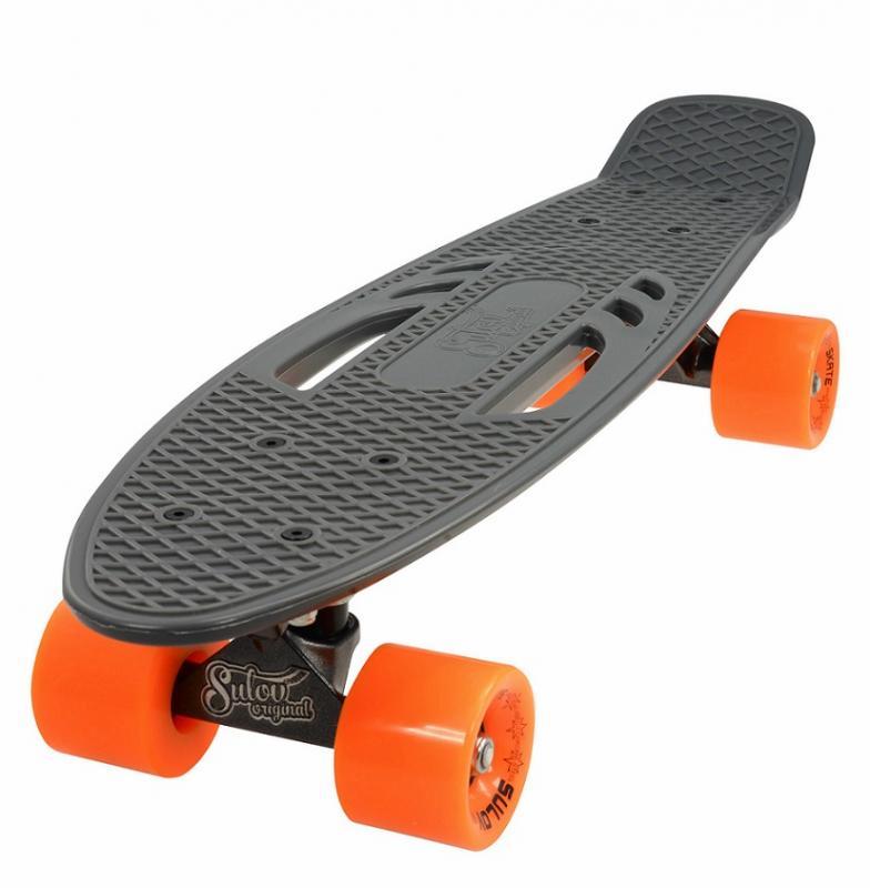 """Sulov 22"""" CITY šedo-oranžový penny board"""