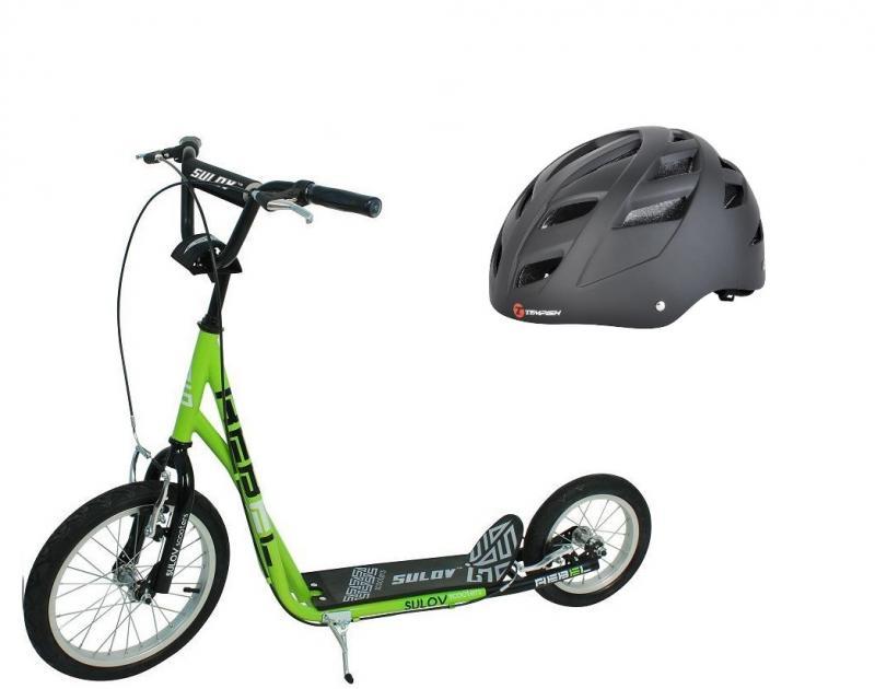 Sulov REBEL zeleno-černá koloběžka + Tempish MARILLA helma - XS: 48-50 cm - black