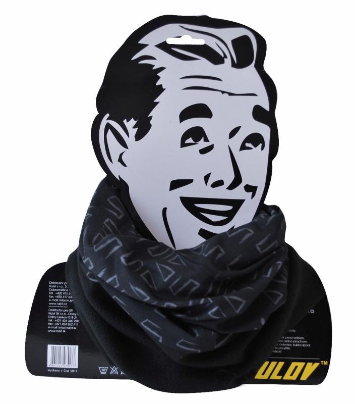 Sulov Sportovní šátek s flísem černo-bílý