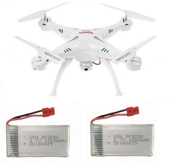 SYMA X5Csw- černý dron s FPV online přenosem přes WiFi + 2x Akumulátor 1200mAh