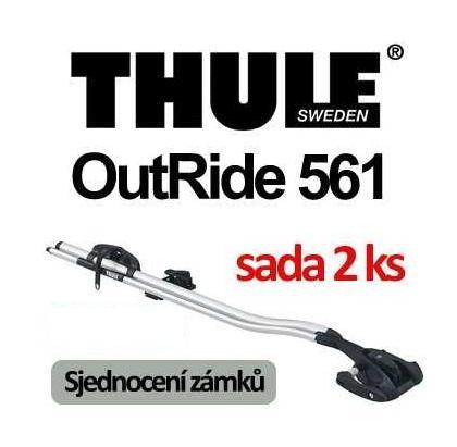 Thule OutRide 561 střešní nosič sada 2ks a sjednocení zámků