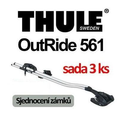Thule OutRide 561 střešní nosič sada 3ks a sjednocení zámků