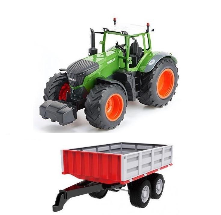 Traktor na dálkové ovládání 1:16 2.4GHz + Sklápěcí valník