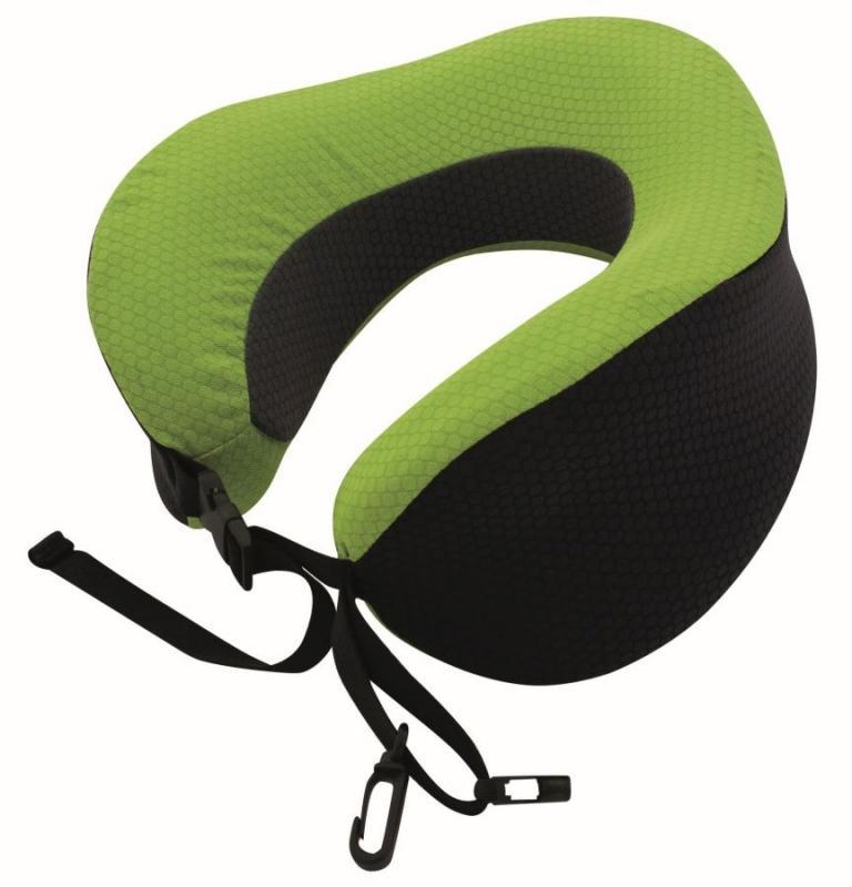TravelSafe podhlavník Travel Pillow Memory Foam black/green