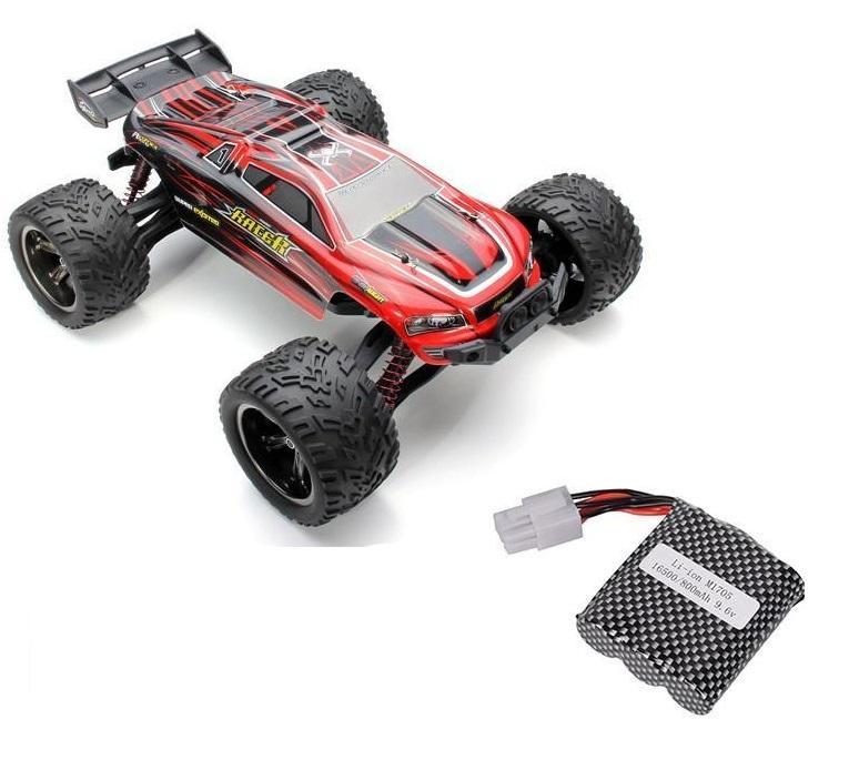 Truggy 1/12, 2WD, 38km/h, 2,4Ghz - červená + 1x náhr. baterie 800mAh + 1x Adaptér pro 2 akumulátory