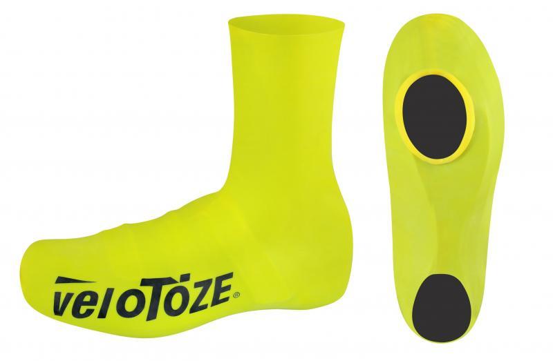 VELOTOZE Návleky treter ROAD latex vysoké,žluté XL