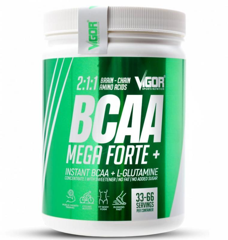 Vigor BCAA Mega Forte + Glutamin 500 g - višeň