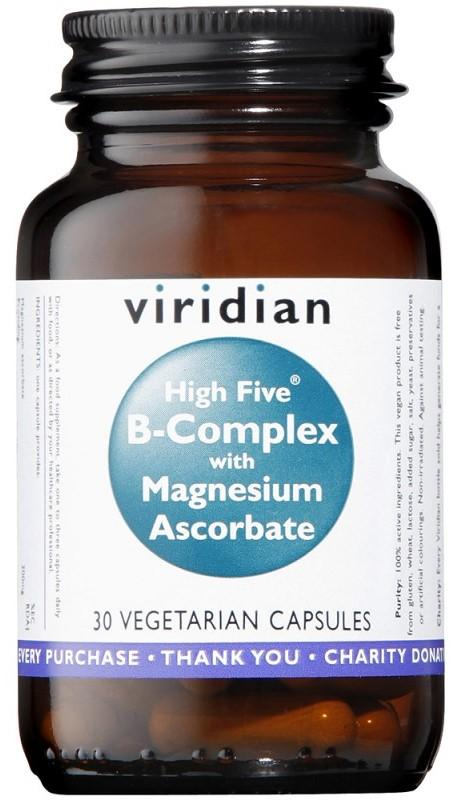 Viridian High Five B Complex with Magnesium Ascorbate 90 kapslí
